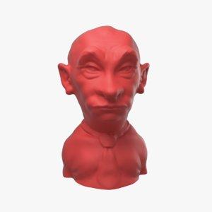 caricature vladimir putin 3D model