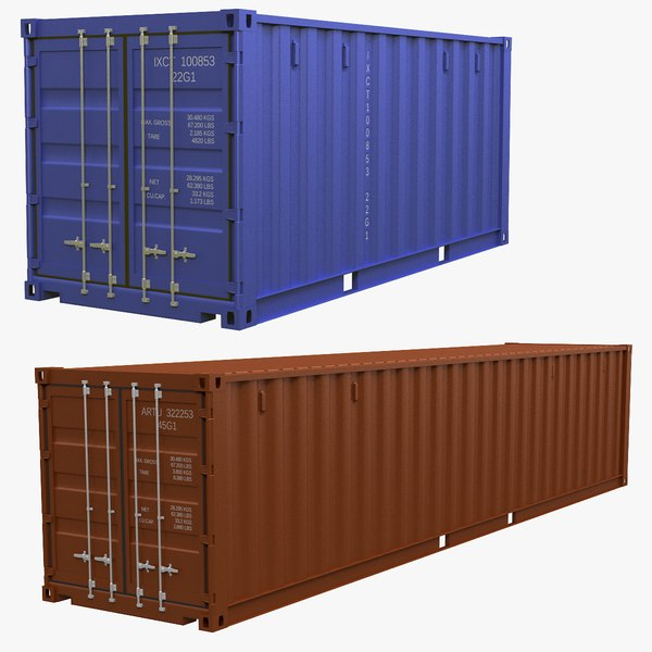 3D intermodal container