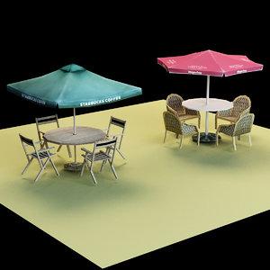 umbrella seat 3D