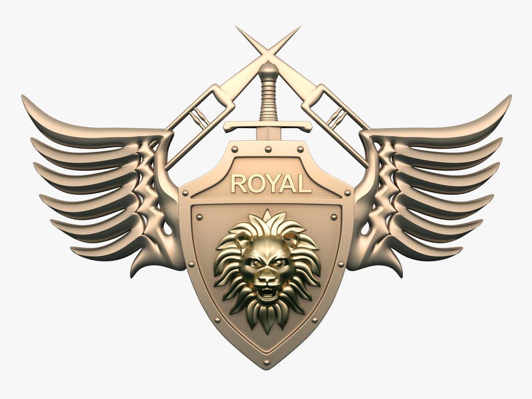 3D royal club logo model