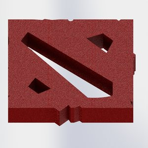 3D dota 2 logo