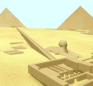 giza pyramid complex 3D model