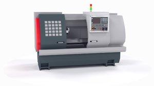 machine turning lathe 3D