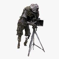 iron cameraman 3D model
