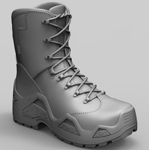 lowa army boot zbrush model