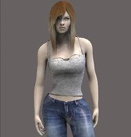 casual women 3D