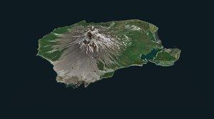 augustine volcano 3D