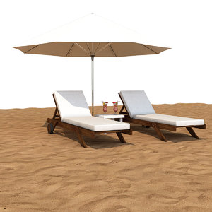 3D sunbed umbrella