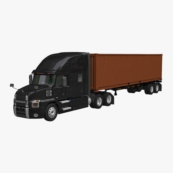 mack anthem container trailer model