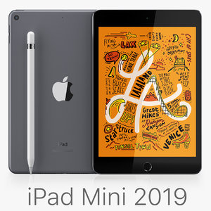 apple ipad mini 2019 3D model