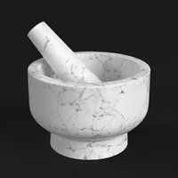 3D kitchen mortar pestle model