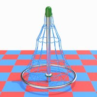 3D model childrens playground rope mesh