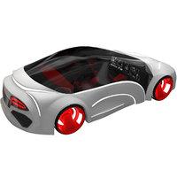 3D sci-fi futuristic future car
