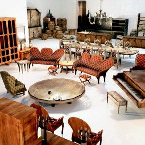 40 victorian interior assets 3D model