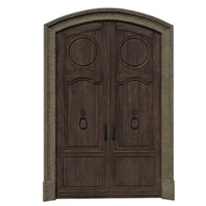 3D door classic entrance