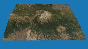 popocatpetl volcano 3D model