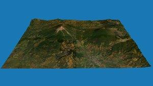 volcn fuego volcano 3D model