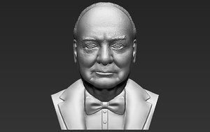 3D winston churchill bust ready model