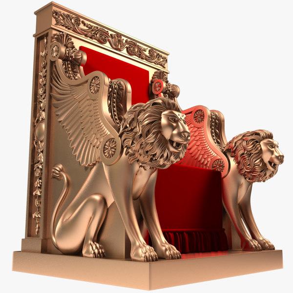 3D throne x1