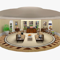 3D presidential oval office