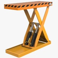 lift hydraulic table 3D model