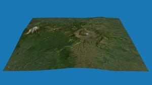 3D model mount bromo volcano indonesia