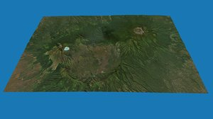 mount raung volcanoes indonesia 3D model