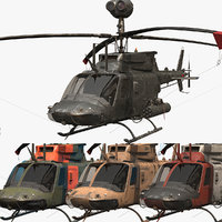 3D cockpit oh-58d helicopter