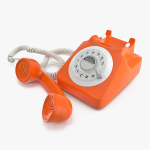 fashioned rotary dial phone 3D model