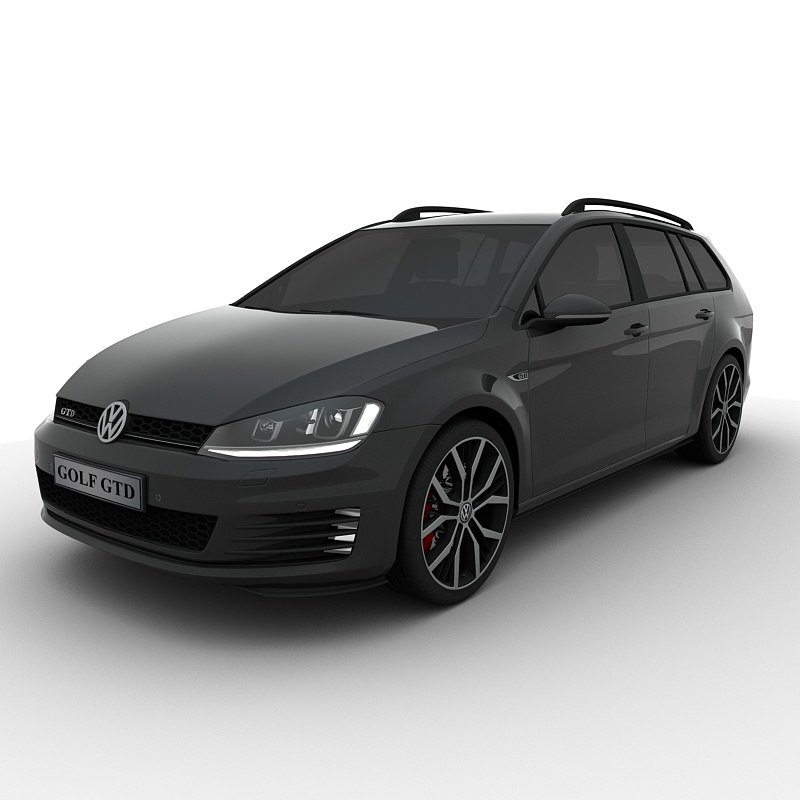 3D model volkswagen golf gtd variant