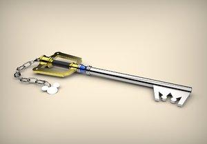 keyblade kingdom hearts 3D model