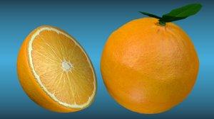 3D orange
