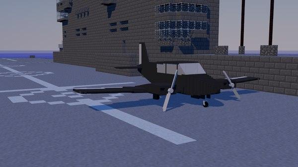 3D minecraft plane model