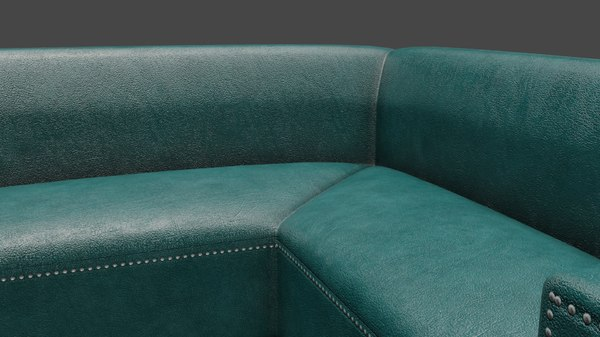 corner leather couch sofa 3D model