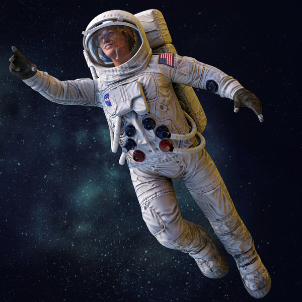3D astronaut rig spacesuit