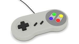 3D model gamepad super nintendo