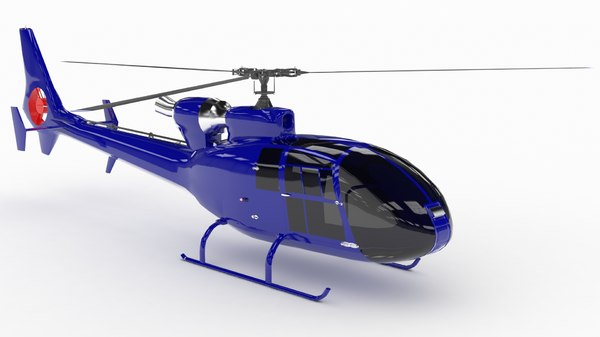 3D model helicopter sa342 gazelle low-poly