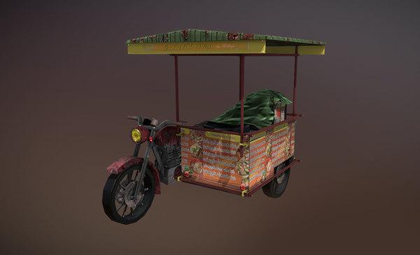 3D model thailand noodle shop