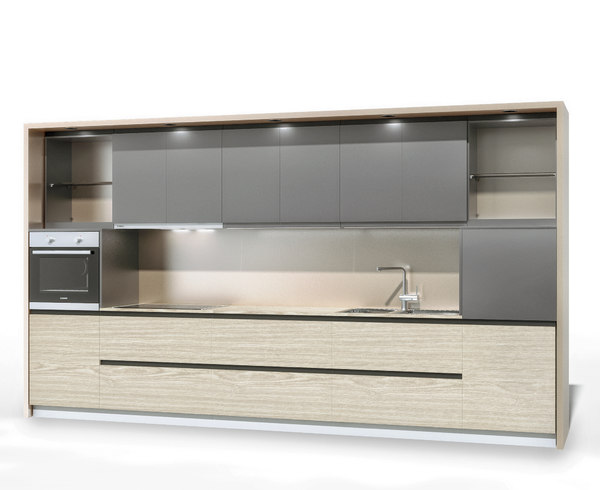3D kitchen modern modo model