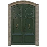 3D classic entrance door model