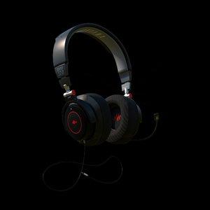 gaming headset 3D model