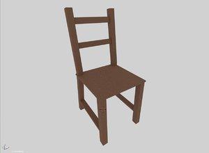 chair designed mobile 3D model