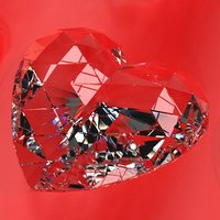 set heart shaped gemstone 3D model