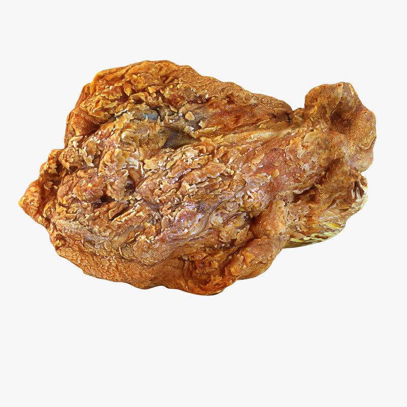 fried breast 3D model