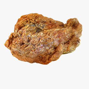 fried breast 3D model