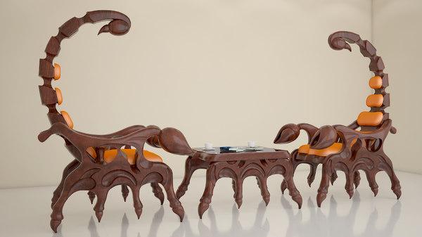 scorpion chair 3D model