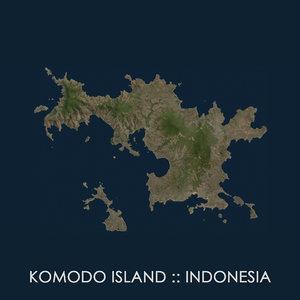 komodo island 3D model