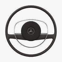 mercedes-benz 280 sl steering wheel 3D model