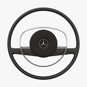 mercedes-benz 280 sl steering wheel 3D model