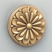 3D rosette cnc intagli3d model